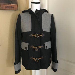 J. Crew Colorblock duffle coat-NWOT